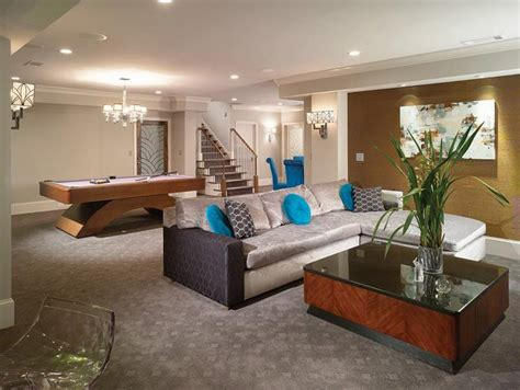 Home Design Ideas Basement by 22 Finished Basement Contemporary Design Ideas