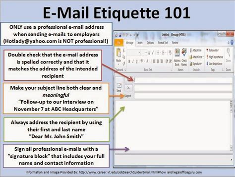 oakland career services e mail etiquette 101
