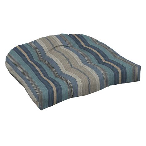 blue and white striped patio cushions shop allen roth stripe blue stripe standard patio chair