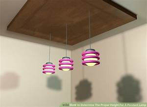 How to determine the proper height for a pendant lamp steps