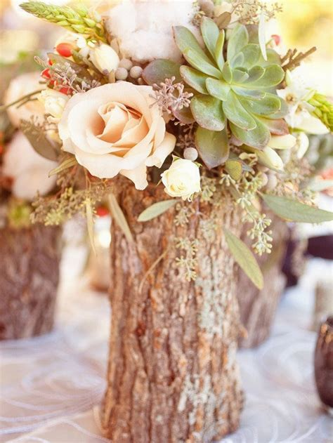 small vases mid high rustic centerpieces