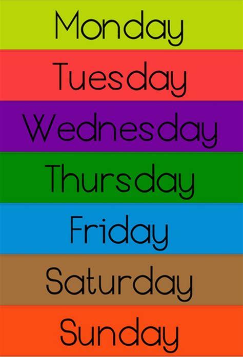 Nursery Rhymes Days Of The Week Ency123