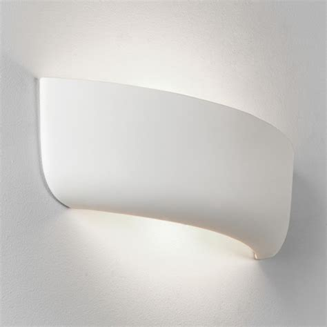 paintable unglazed ceramic and plaster wall lights from