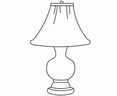 Lamp Drawing Coloring Kid Table Colour Children