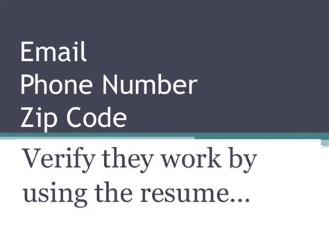 Wrong Phone Number On Resume by Dirk Spencer Your Resume Plan Resume Boot C