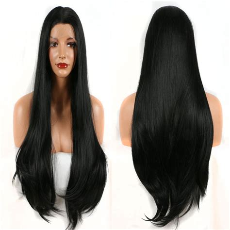 Bombshell Black Straight Hair Synthetic 3 Inch Lace Front
