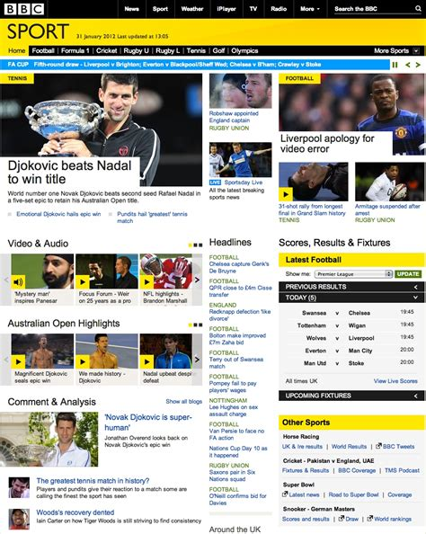 The BBC Overhauls its Sports Website