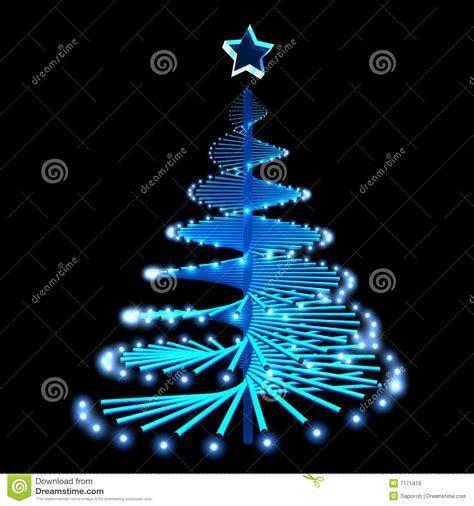 193 rbol de navidad abstracto con las luces azules stock de