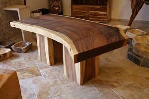 Baumstamm tisch suar l nge 200 210 cm der tischonkel for Tisch baumstamm