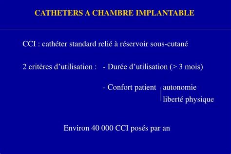 infection chambre implantable ppt prevention des infections de catheters a chambre
