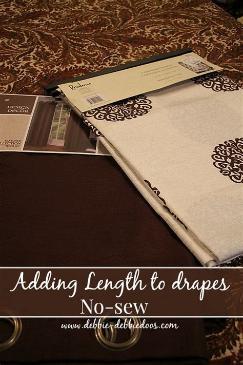 How To Make Drapes Without Sewing - can t sew no worries debbiedoos