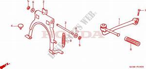 Main Stand Kick Starter Arm For Honda Scoopy 50 1993