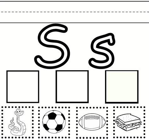 Letter S Worksheets Printable  Activity Shelter