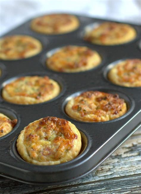 freezable canapes mini ham and edam cheese quiches