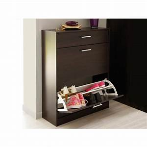 meuble a chaussures wenge 3 portes caliari With ordinary meuble chaussure maison du monde 1 meuble chaussures maison du monde
