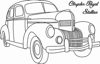 Classic Coloring Pages Royal Chrysler Stallion Netart
