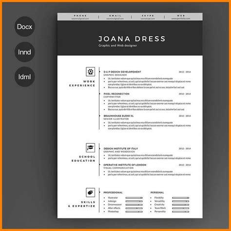 7 resume template illustrator applicationleter