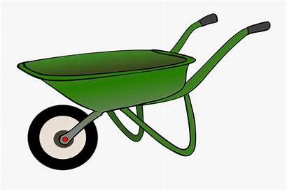 Wheelbarrow Garden Clipart Brouette Dessin Clip Kruiwagen