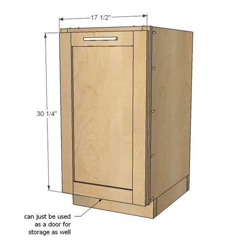 "Ana White   Build a 18"" Kitchen Base Cabinet Trash Pull"