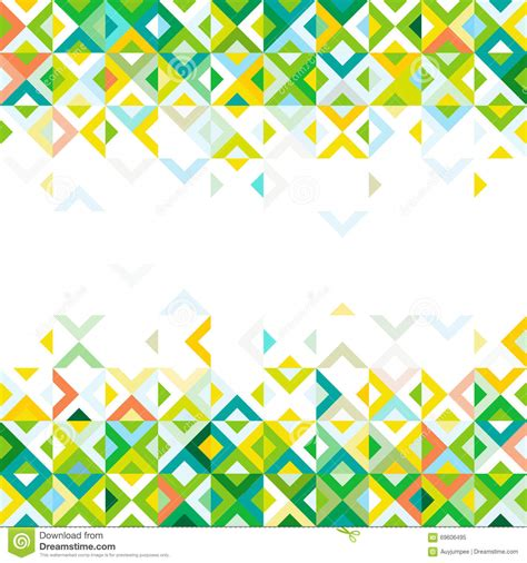abstract strip of colorful mosaic mix geometric pattern