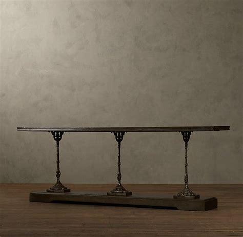 restoration hardware sofa table oh la la 19th c french zinc and cast iron console table