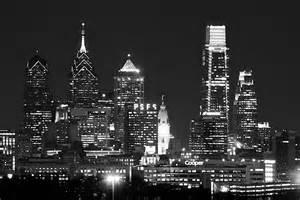 Philadelphia Skyline Black and White