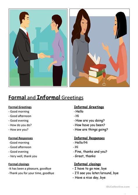 formal informal  worksheet  esl printable