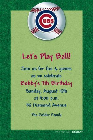 custom chicago cubs invitations party city