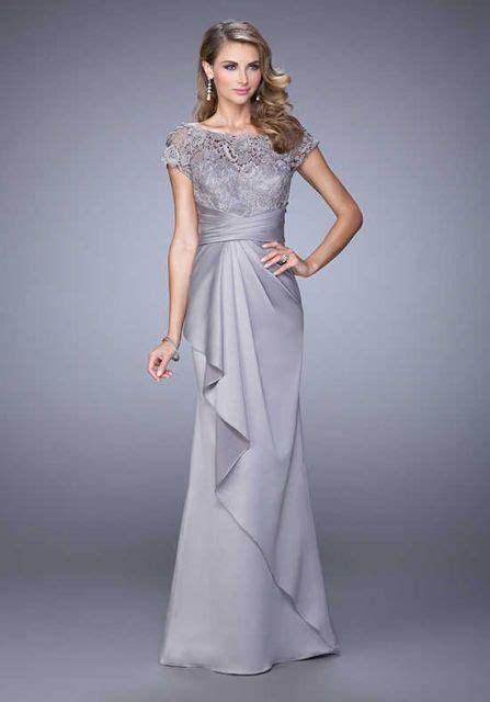 desain model dress brokat kombinasi satin elegan