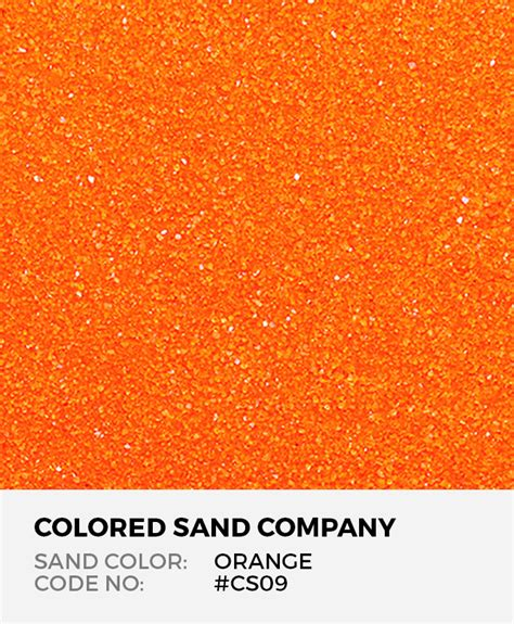orange cs classic colored sand art material