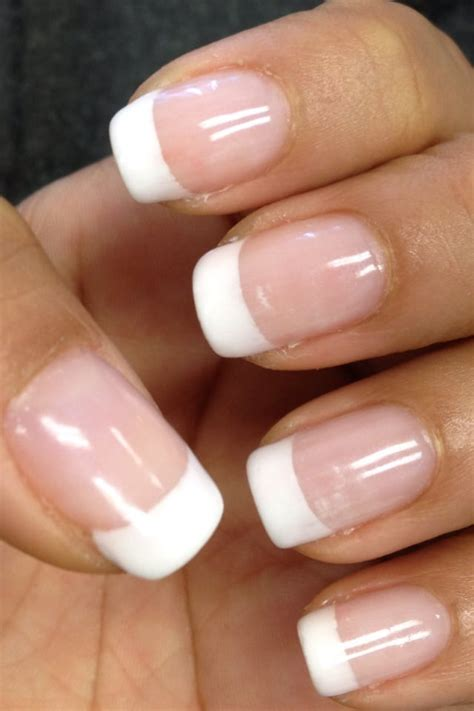 gel french tip nails  sonny