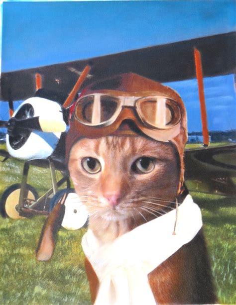 pilot dog pilot cat paintings   pet