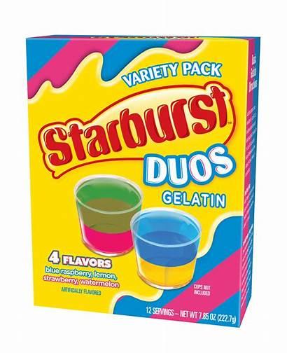 Starburst Duos Gelatin Pack Variety Envelope Directions
