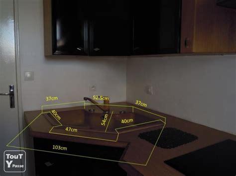 dimension meuble d angle cuisine dimension evier wikilia fr