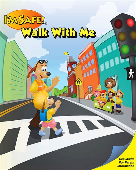 6 1343 pedestrian safety activity coloring book i m safe 859 | 134E Walk With Me FrontCover