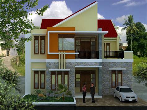 denah rumah minimalis  lantai   depan desain