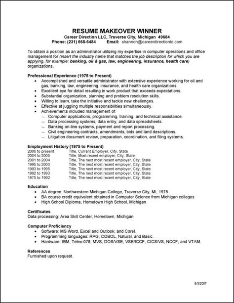 resume 26 general objective for resume general
