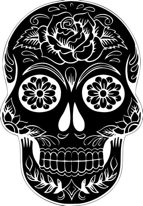 Free Sugar Skull Transparent Background, Download Free ...