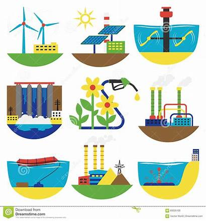 Sources Energy Alternative Illustration Vector Clipart Water