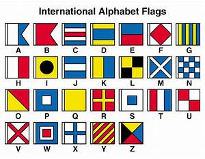 alphabet flags clip art for teachers parents students With sea flags letters