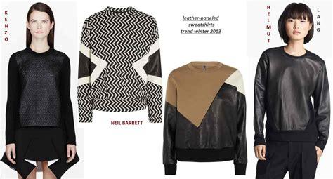 Leather Sweatshirts Trend Fall Winter   Ee  Fashion Ee    Ee  Directory Ee