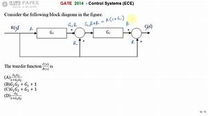 Gate 2014 Ece Transfer Function Of Given Block Diagram