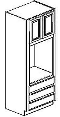 OC3384-Tall Cabinet:Dartmouth Dark Sable Kitchen Cabinet