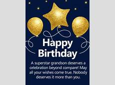 To a Superstar Grandson! Happy Birthday Wishes Card