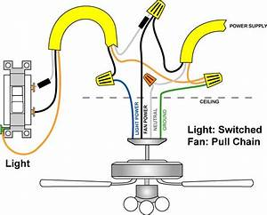 Ceiling Fan Light Wiring Diagram One Switch