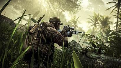 Battlefield Tactical Warrior Futuristic Military Shooter Fighting