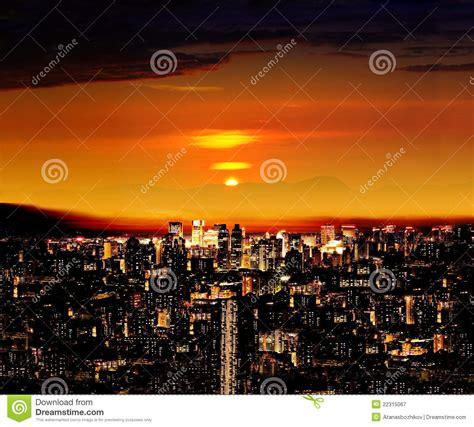 hong kong  sunset stock image image  district japan