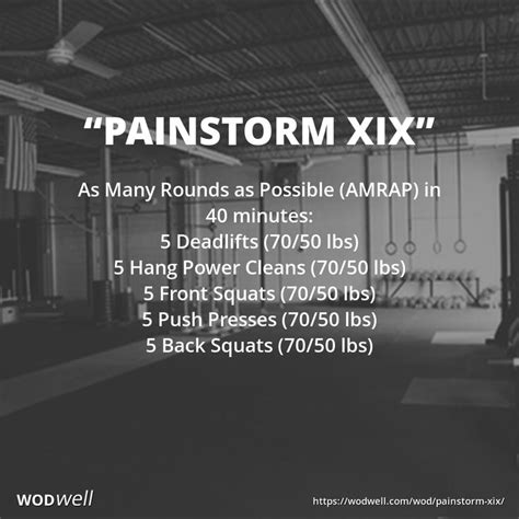wod crossfit amrap workout 40 workouts push wodwell rounds training wods kettlebell possible many power minutes xix squat cleans squats