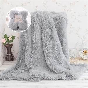 Kuscheldecke Animal Print : faux fur blanket soft fluffy sherpa throw blankets for beds cover shaggy bedspread plaid ~ Whattoseeinmadrid.com Haus und Dekorationen