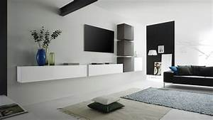 Meuble suspendre pour salon for Deco cuisine pour meuble tv suspendu